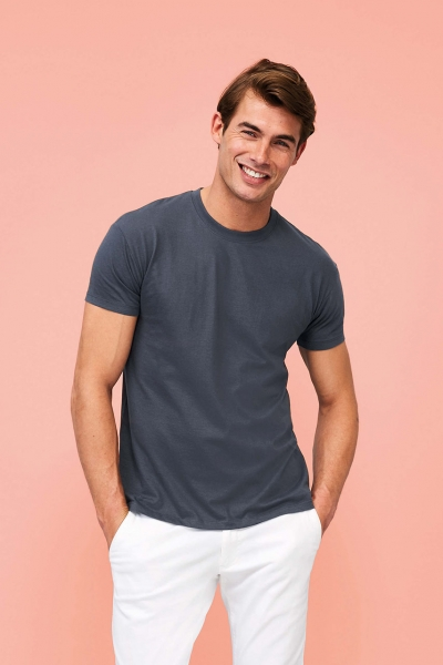 Men's Heather Hoody 60/40 2111-Tapferes Stickerlein